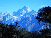 Nanda Devi Mountain scene Royalty Free Stock Image