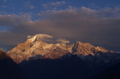 Nanda Devi mountain top closeup Stock Images