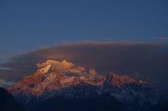 Nanda Devi mountain top in Morning Stock Photo