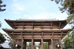 Nandaimon gate of Todai ji in Nara Stock Photos