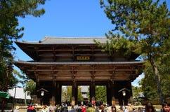 Nandaimon Gate of the Todai Temple, Nara, Japan Royalty Free Stock Images