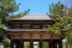 Nandaimon Gate of the Todai Temple, Nara, Japan Royalty Free Stock Photo