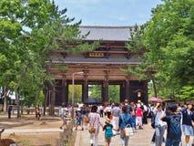 Nandaimon Gate, Todaiji Temple in Nara, Japan. Royalty Free Stock Photo