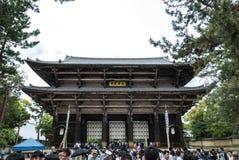 Nandaimon, la gran puerta del sur Entrada al templo de Todai-ji fotos de archivo libres de regalías