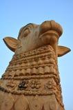 Nandhi rzeźba obrazy royalty free
