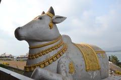 Nandi στο άγαλμα Shiva - Murudeshwar στοκ εικόνα
