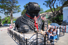 The Nandi bull on Chamundi Hill, Mysore, India Royalty Free Stock Image