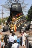 The Nandi bull on Chamundi hill Stock Photos