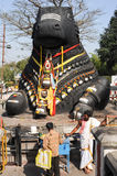 The Nandi bull on Chamundi hill Royalty Free Stock Image