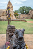 Nandi the Bull and idols in Hindu temple Royalty Free Stock Photography