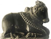 NANDI Granite Made 12th århundradeANNONS Arkivfoto