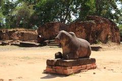 Nandi at Preah Ko in Angkor Royalty Free Stock Photography