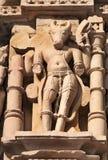 Nandi Sculpture cinzelada pedra no templo de Javari Khajuraho imagens de stock