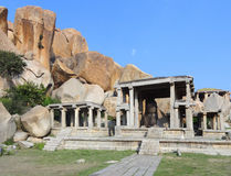 Nandi Temple at Vijayanagara. Nandi Temple at the Sacred Center around Hampi, a city located in Karnataka, South West India royalty free stock images