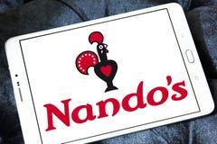 Nando ` s restauracyjnego łańcuchu przypadkowy łomota logo Zdjęcia Royalty Free