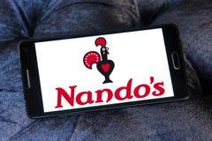 Nando ` s restauracyjnego łańcuchu przypadkowy łomota logo Obrazy Royalty Free