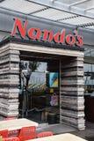 Nandos restaurangfasad Fotografering för Bildbyråer