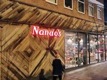 Nandos Restaurant lizenzfreie stockfotos