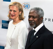 Nane Maria Lagergren und Kofi Annan Lizenzfreie Stockfotos