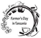 Nane Nane Day - la Tanzania Immagini Stock Libere da Diritti