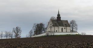 Nanebevzeti Panny Marie chapel near castle Veveri near Brno Stock Images