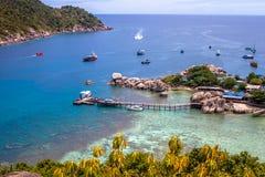Nang元海岛在泰国 免版税库存图片