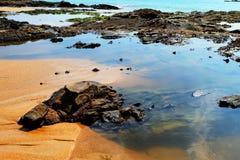 Nang皮带海滩, Phang Nga,泰国 库存照片