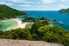 Nang Juan wyspa przy Koh Tao, Tajlandia Obraz Royalty Free