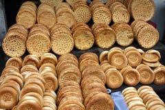 Nang, pão tradicional de xinjiang, porcelana Fotos de Stock Royalty Free