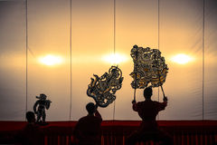 Nang Yai the grand Shadow Play. Stock Images