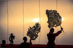 Nang Yai the grand Shadow Play. Stock Image