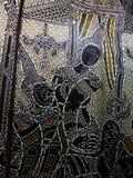 Nang Yai of het drama van de marionettenschaduw bij Wat Khanon-tempel, Thailand royalty-vrije stock afbeeldingen