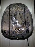 Nang Yai of het drama van de marionettenschaduw bij Wat Khanon-tempel, Thailand stock afbeeldingen