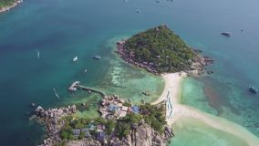 Nang Yuan Island. Aerial View. Shot with a DJI Mavic fps29,97 4k stock video