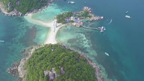 Nang Yuan Island. Aerial View. Shot with a DJI Mavic fps29,97 4k stock video footage