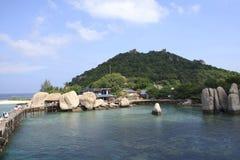 Nang Yuan Island bei Koh Tao, Thailand Lizenzfreies Stockfoto