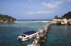 Nang Yuan Island chez Koh Tao, Thaïlande Photo libre de droits