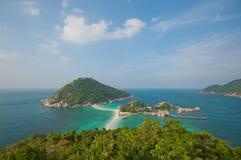 Nang Yuan Island, Koh Tao, Thailand Royalty Free Stock Photography
