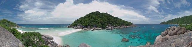 Nang yuan island in panorama stock image