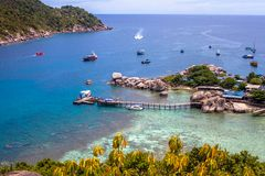 Nang Yuan island in Thailand Royalty Free Stock Images