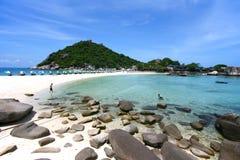 Sea Thailand. Nang Yuan island, Koh Tao, Thailand Stock Images