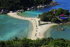 Nang Yuan island from viewpoint in Thailand Stock Photography