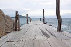 Nang-Yuan Wood Bridge royalty free stock images