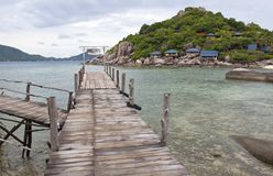 Nang-Yuan Wood Bridge Island Royalty Free Stock Photo