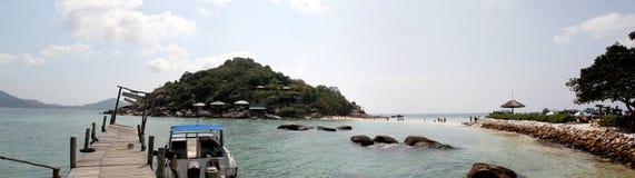 Nang-Yuan Wood Bridge Island in Thailand Royalty Free Stock Photography