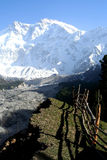 Nanga Parbat. Massive Nanga Parbat mountain in the Karakorum range, Pakistan Royalty Free Stock Photo