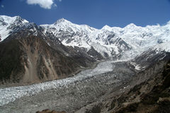 Nanga Parbat glacier Stock Images
