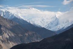 Nanga Parbat lub zabójca góra widzieć od Karakorum autostrady, Zdjęcie Royalty Free