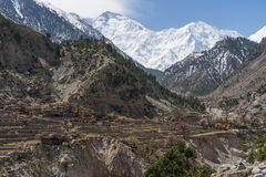 Nanga Parbat, più alta montagna del mondo ottavo, gamma dell'Himalaya, 'chi' Fotografia Stock Libera da Diritti