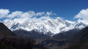 Nanga Parbat. Tibet is the ninth highest mountain in the world at 8,126 metres (26,660 ft) above sea level Stock Images